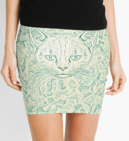 Cold—Warm Cat Mini Skirt