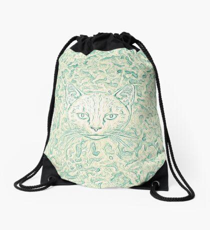 Cold—Warm Cat Drawstring Bag