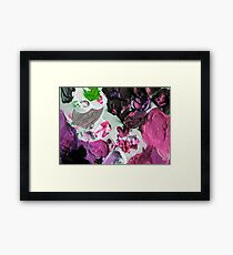 abstract black, pink green etc 09/12/17 Framed Print