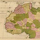 Map of West Africa (c 1718) Carte de la Barbarie, de la Nigritie, et de la Guinée by allhistory