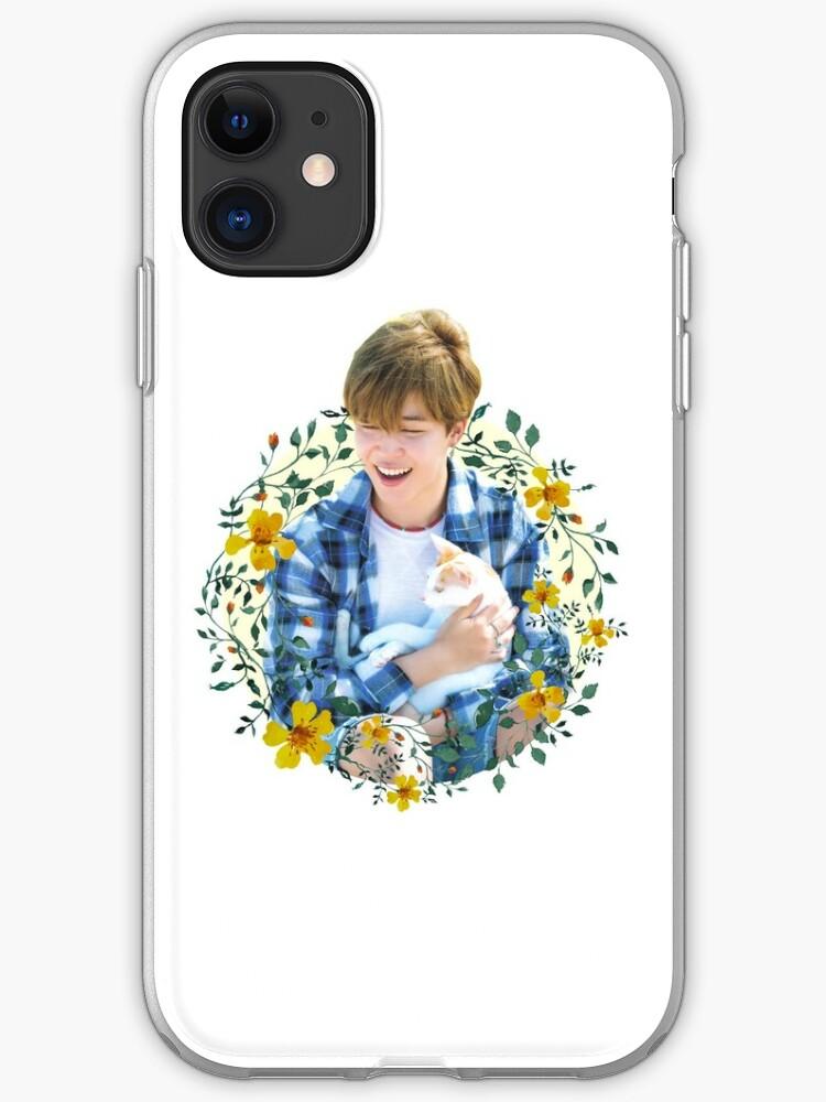 Jimin flowers iphone 11 case