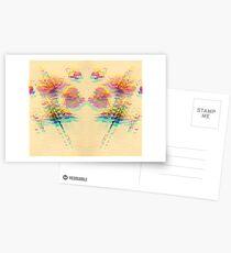 Floral Glitch IV Postcards