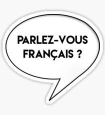 parlez-vous francais ? Sticker
