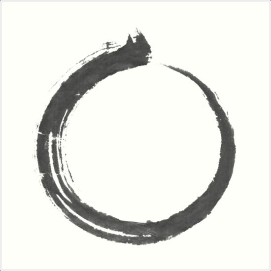 """Enso, Japanese Sumi Brush Circle, Japanese Circle"