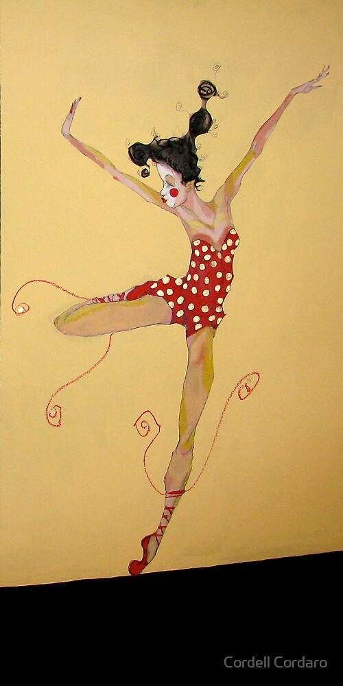 Dancin' in Red Ballet shoes by Cordell Cordaro