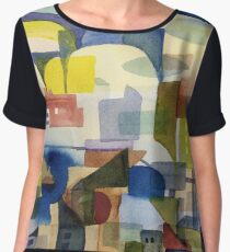 Cityscape with Clouds Women's Chiffon Top