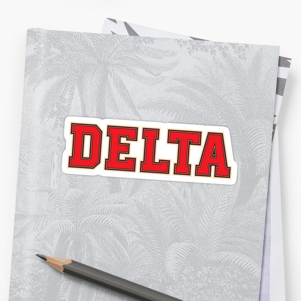 Delta Jersey Theta Schriftart Sticker