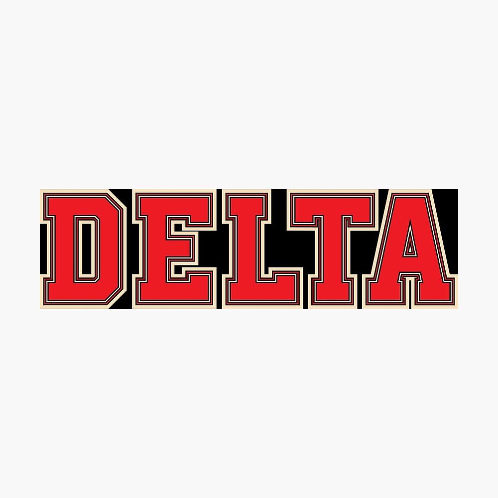 Delta Jersey Theta Schriftart Fotodruck