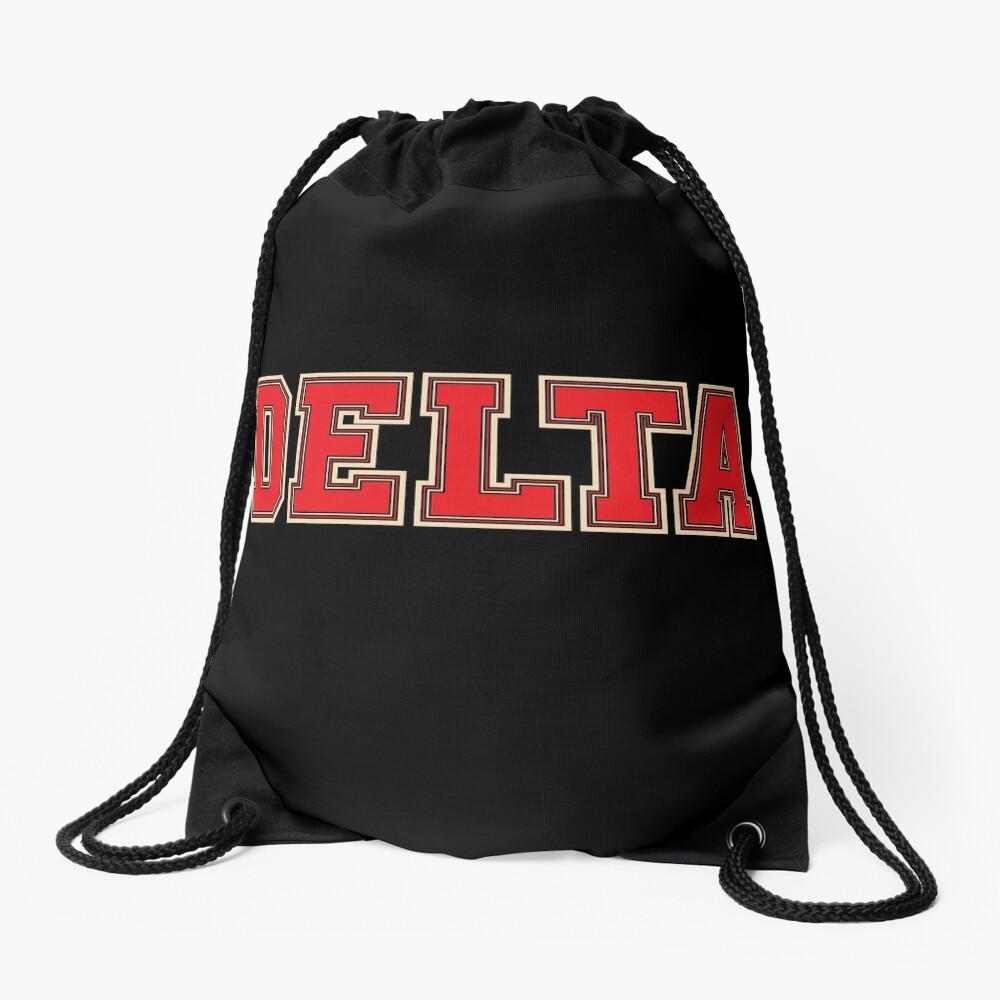 Delta Jersey Theta Schriftart Turnbeutel