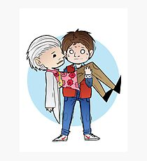 Doc and Marty -  Back to the future Photographic Print