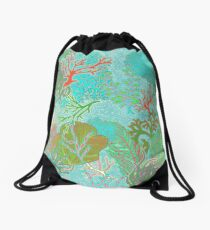 Coral Reef by Hollyce Jeffriess Drawstring Bag