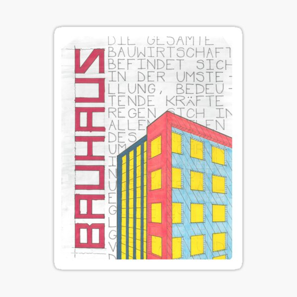 Bauhaus Propaganda Sticker