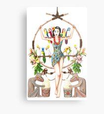 Enchanted Tiki Room Pinup Metal Print