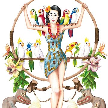 Enchanted Tiki Room Pinup by Kohrsfilms