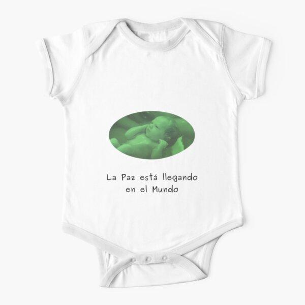 Paz in the Mundo - Ropas verdes para bebé Short Sleeve Baby One-Piece