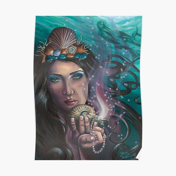Ace of Cups Art Mermaid Art Nautical Art Poster