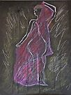 Woman Posed in Pink by C. Rodriguez