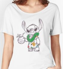 Stitch Goes On A Vacation Women's Relaxed Fit T-Shirt