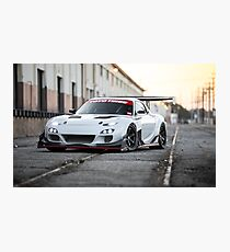 Widebody Mazda RX7 Photographic Print
