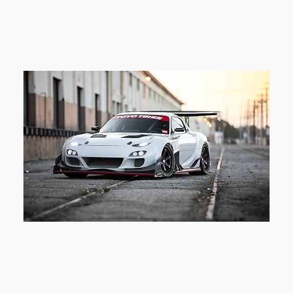 Widebody Mazda RX7 Photographic Print