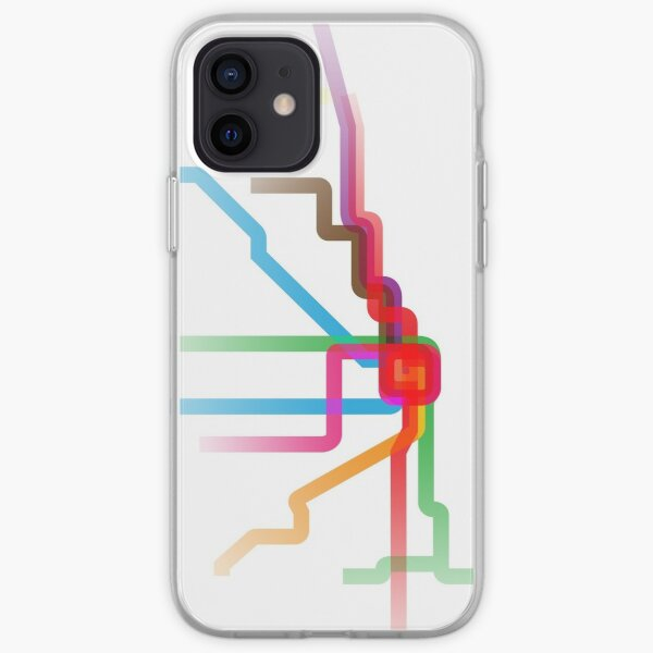 Chicago CTA Rainbow Map iPhone Soft Case
