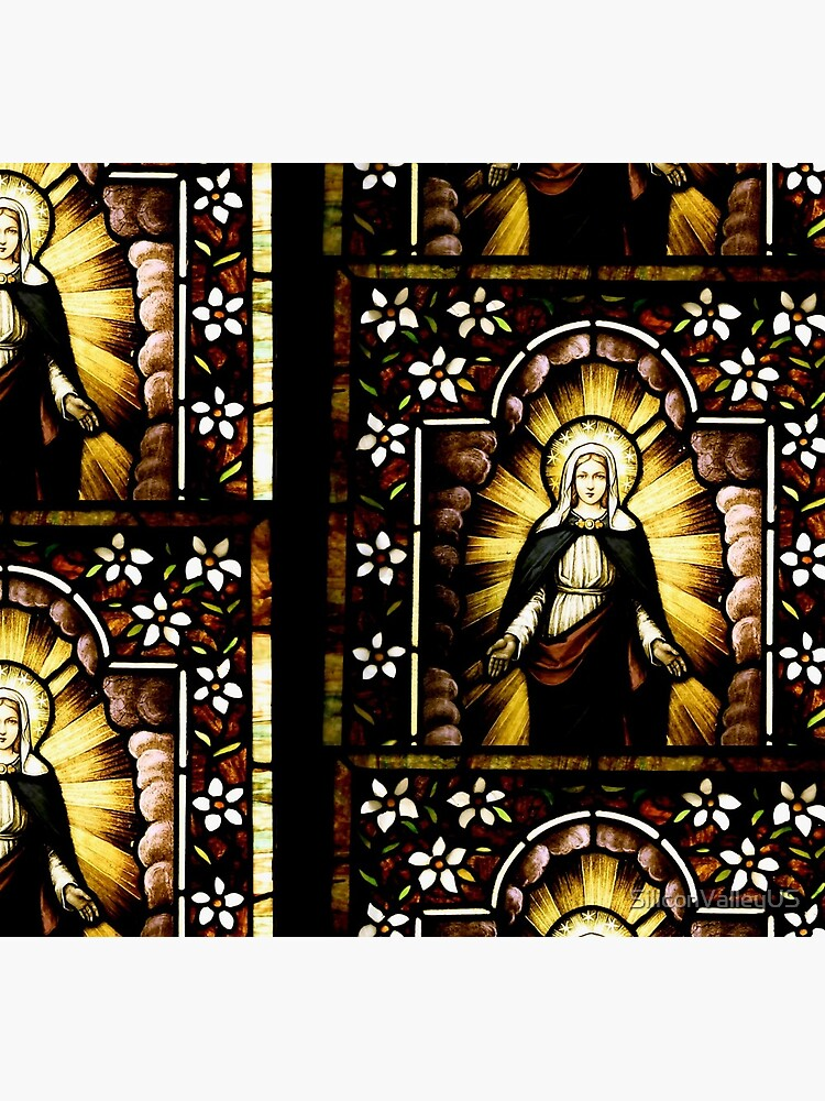 Blessed Virgin Mary with Halo of Stars by SiliconValleyUS