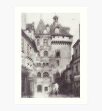 Hotel de ville loches Art Print