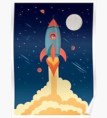 Weltraumrakete Poster