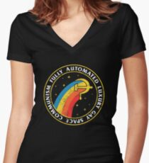 Fully Automated Luxury Gay Space Communism Women's Fitted V-Neck T-Shirt
