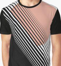 Rising Sun Minimal Japanese Abstract White Black Rose Graphic T-Shirt