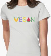 Vegan  Women's Fitted T-Shirt