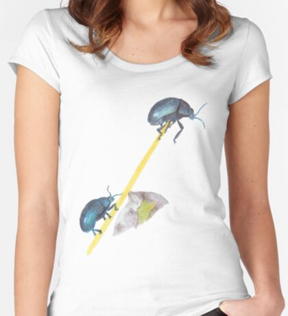Balancing Beetles Fitted Scoop T-Shirt
