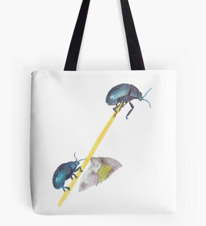 Balancing Beetles Tote Bag