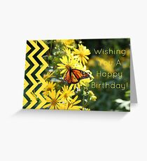 Happy Birthday Butterfly (Blank Inside) Greeting Card