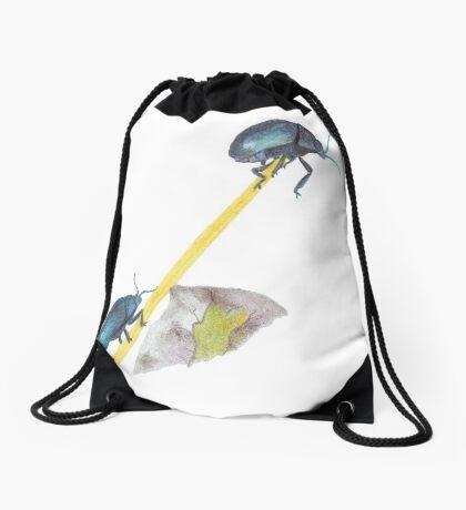 Balancing Beetles Drawstring Bag