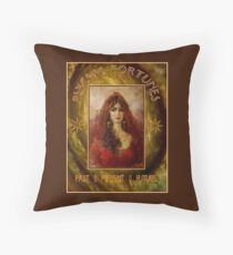 PSYCHIC FORTUNES: Vintage Fortune Telling Print Throw Pillow