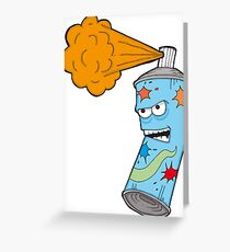 Angry Aerosol Greeting Card