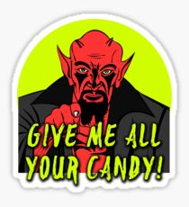 Demon Give Me Candy Sticker