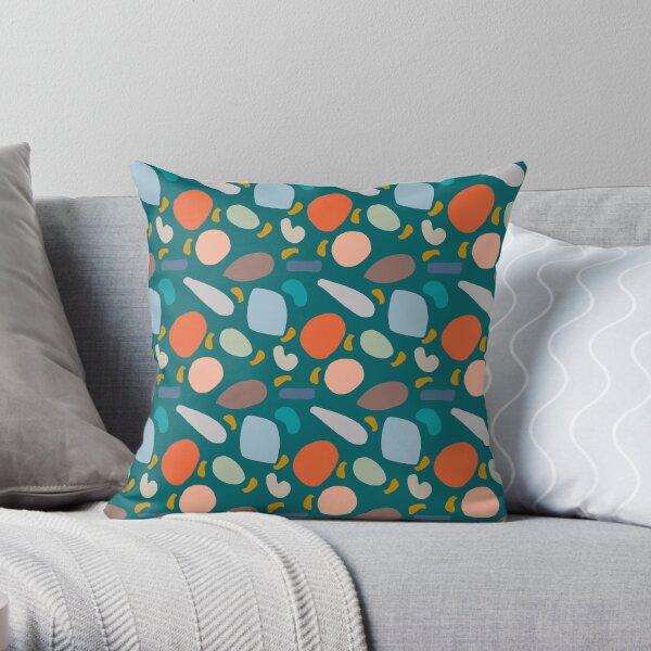 Flotsam & Jetsam  -  Blue Throw Pillow