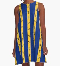 Barbados Flag Products A-Line Dress