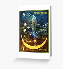 PSYCHIC FORTUNES: Vintage Fortune Teller Print Greeting Card