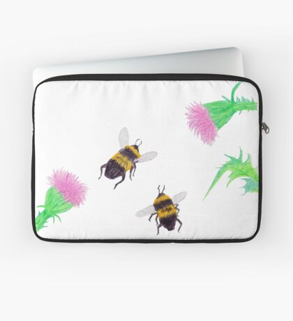 Bumblebees and Thistles Laptop Sleeve