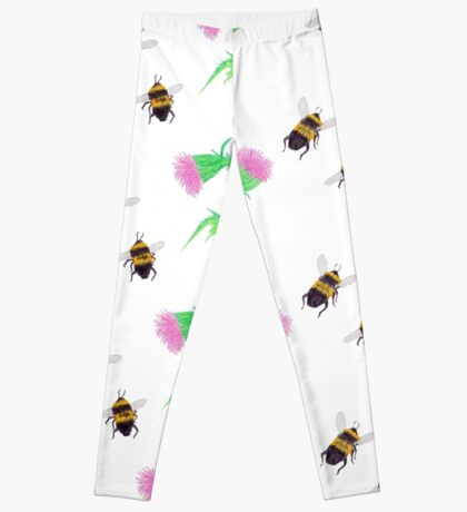 Bumblebees and Thistles Leggings