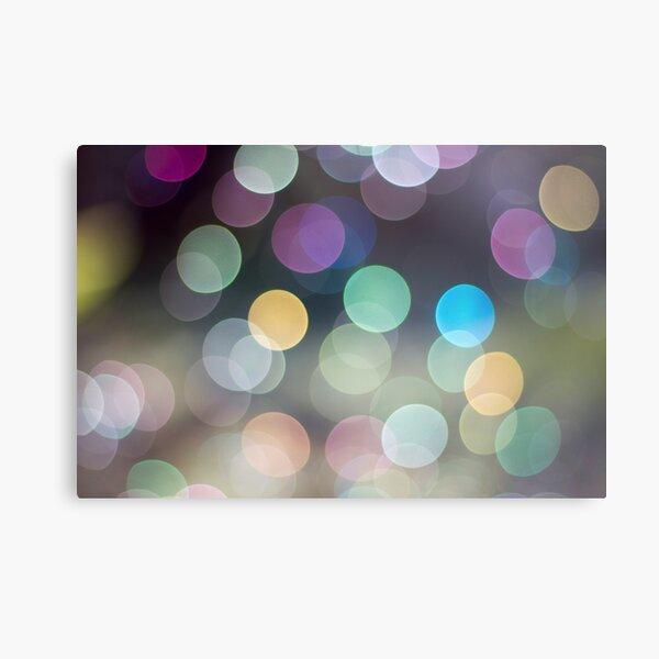 Soap Film - The iridescent colours of soap film Metal Print