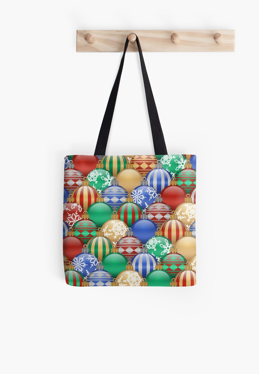 Studio Dalio - Christmas Ornaments Pattern Tote Bag