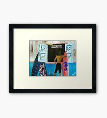 SURF SHOP  Framed Print