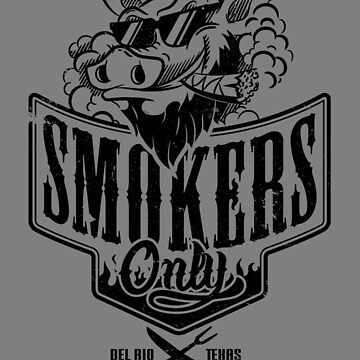 Smokers Only BBQ (Black) by Gingerbredmanny