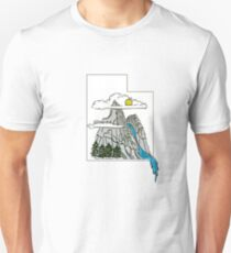 Utah Outline with Mountains T-Shirt
