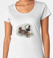 A Pair of Hooded Merganser Ducks Women's Premium T-Shirt
