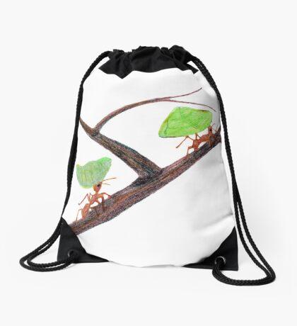 Weaver Ants going home Drawstring Bag